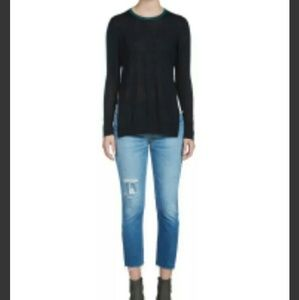 Rag & Bone Womens 100% Cashmere Two-tone Sweater